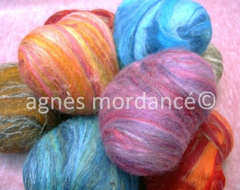 """Large felted SOAP """"Heart"""" - Merino Wool and silk fibers"""