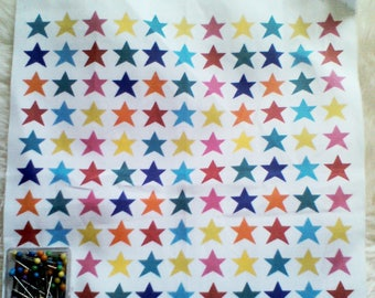 Creation of fabric printed stars