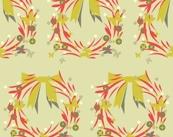 creation of wreath and bow pattern fabrics