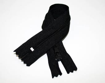 Zip closure, 18 cm, black, not separable