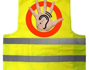 fastens with velcro adult safety vest