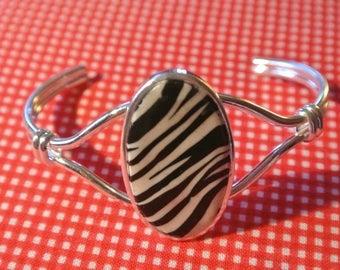 Bracelet fine Zebra effect