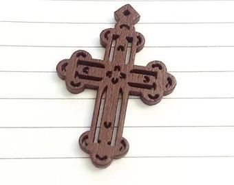 Set of 15 Brown cross 42 x 29 mm