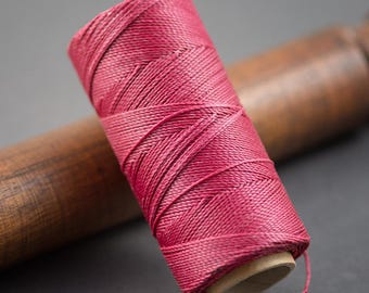Raspberry 5 meters - wire 0.7 mm red waxed polyester cord