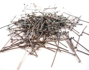50 nails flat gun metal nickel (AP163) 50mm