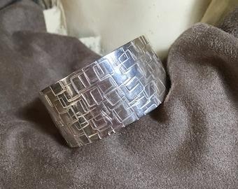 Stamped sterling bracelet