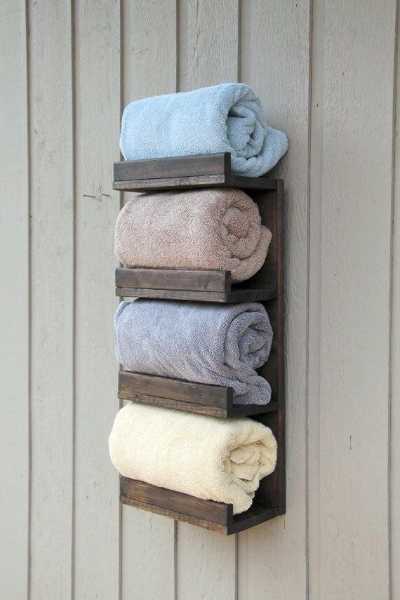 Bathroom Towel Rack 4 Tier Bath Storage Everyday Towel Rack