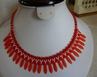 WOVEN WITH DAGGERS VITAMINEES BIB NECKLACE!