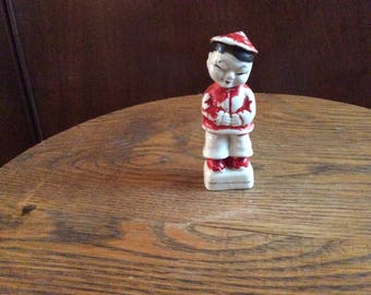Vintage Asian Boy Figurine