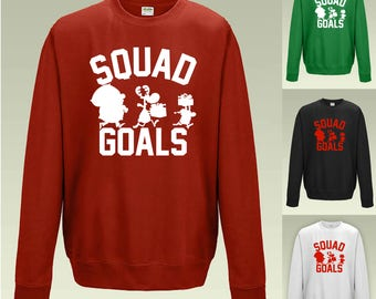 Christmas Squad Goals Sweatshirt JH030 Funny Jumper Sweater