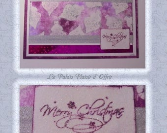 """Simple """"Xmas balls"""" card purple and silver"""