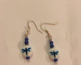 Dragonfly Beaded Earrings