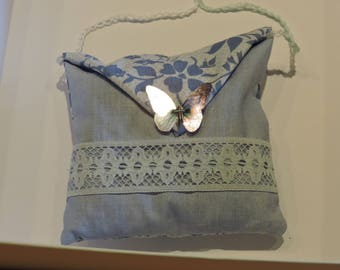 Lavender hanging pillow, hand-sewn cotton fabric