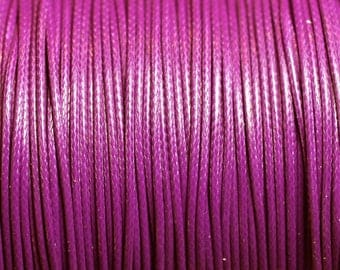 1 reel 90 m - wire cord 1 mm purple waxed cotton cord