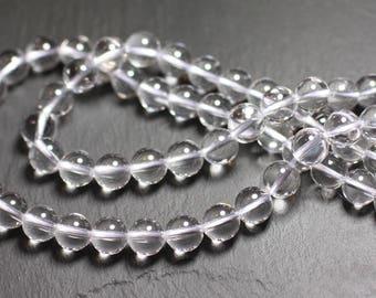 Stone - clear Quartz beads 1 strand 39cm balls 10mm
