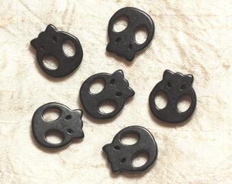 5pc - skull skull black 20mm 4558550034540 beads