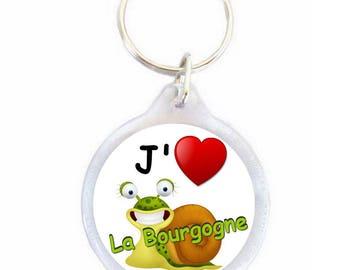 Keychain I love the Burgundy - Burgundy