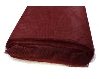 tulle color soft Bordeaux width 300 cm