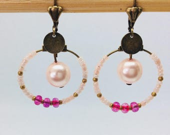 Pink hoops and beads