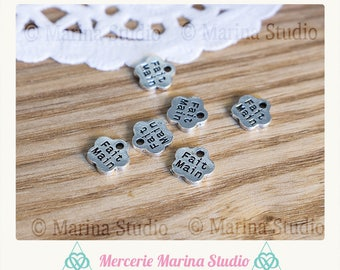 25 charms handmade silver color