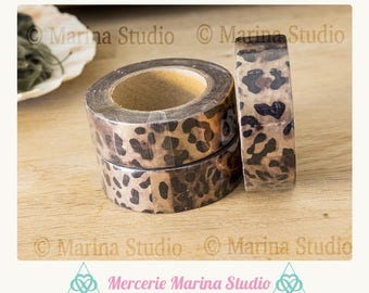 Real washi tape 10 M rice paper leopard