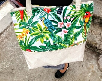 Tote bag - exotic print fabric