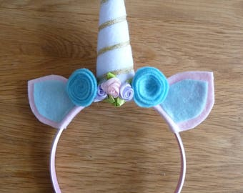 Unicorn Hairband - headband - pretend play - dressing up - birthday - unique gift