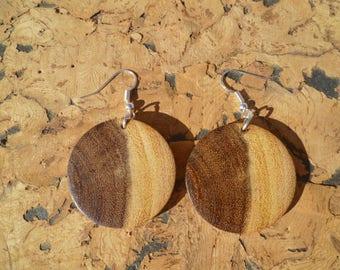 Earrings in acacia African boaca6