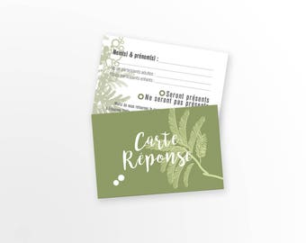 Map wedding response - Mimosa - A customize