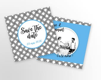 Save The Date - Art Deco - to customize