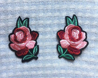 Flower Patch - Iron on Patch, Sew On Patch, Embroidered Patch
