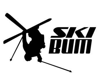 Ski Bum .SVG file for vinyl cutting