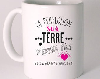 "CERAMIC MUG ""there is no perfection"""