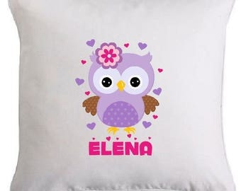"""""""OWL"""" pillow personalized with name"""