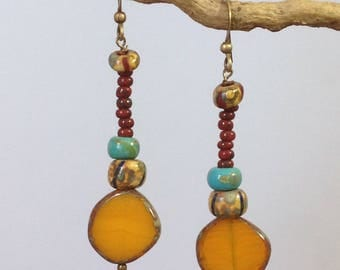 Fruity Masango long earrings. Long Ear Stud Masango fruity