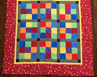 Primary colors baby quilt