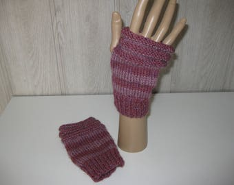 mittens wool old rose and rose blush