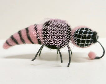 Felted pink fly