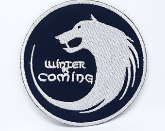 843# WINTER IS COMING Game of Thrones House Stark Wolf iron/sew/patch