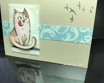 the cute dog card dream bird!