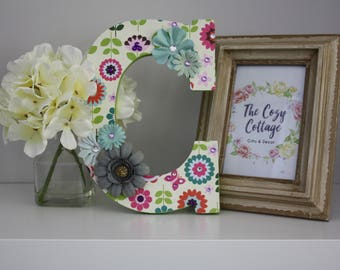 "Nursery/Child Decor - Decorative Wooden Letter ""C"""