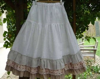 white linen underskirt model Miss Blanche