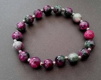 Jaspe pink candy Jade (8 mm beads)