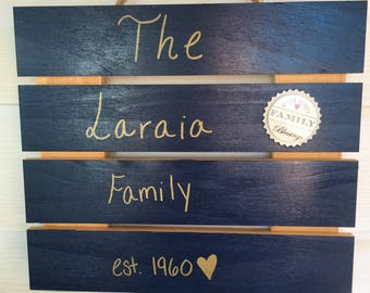 Established family wedding gift hanging