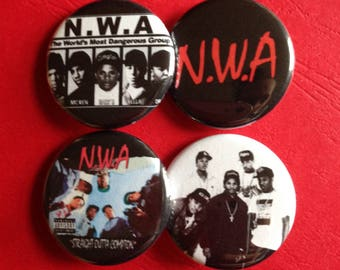 NWA set of 4 buttons 1.25""
