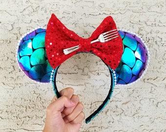 Ariel The Little Mermaid Inspired Ears - Mickey Disneyland Ears Headband