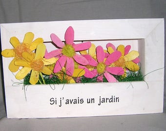 3D with floral frame
