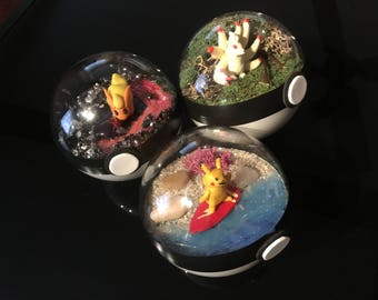 Custom made Pokeball Terrarium