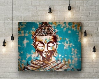 buddha spirit of zen 40 x 30 cm buddha buddha. Black Bedroom Furniture Sets. Home Design Ideas