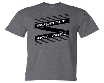 Support Local Music, Band Shirt Banner
